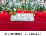 Winter Welcome Sign With...