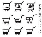 shopping cart icons. vector. | Shutterstock .eps vector #342103079