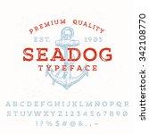 vector handmade font. vintage... | Shutterstock .eps vector #342108770
