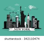 cool graphic new york city... | Shutterstock .eps vector #342110474