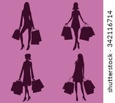 Woman With Shopping Bags...