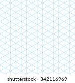 isometric grid seamless pattern ... | Shutterstock .eps vector #342116969