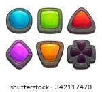 set of cartoon colorful stones  ...