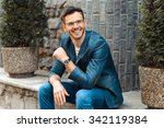 portrait of stylish handsome... | Shutterstock . vector #342119384