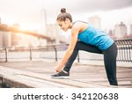 young sportive woman getting... | Shutterstock . vector #342120638
