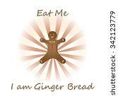eat me i am ginger bread | Shutterstock .eps vector #342123779
