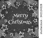 chalk stars on the blackboard... | Shutterstock .eps vector #342124328