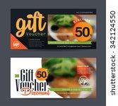 discount voucher template with... | Shutterstock .eps vector #342124550