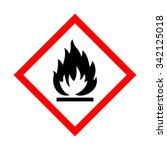 flame warning sign | Shutterstock .eps vector #342125018