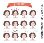 vector set illustration of cute ... | Shutterstock .eps vector #342126716