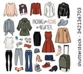 vector illustration of packing...   Shutterstock .eps vector #342136703
