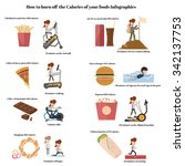 how to burn off the calories of ... | Shutterstock .eps vector #342137753