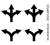 two and three way arrows set | Shutterstock .eps vector #342138923