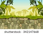 cartoon jungle background....   Shutterstock .eps vector #342147668
