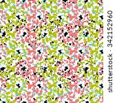 flower seamless pattern with... | Shutterstock .eps vector #342152960
