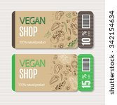 coupons templates with organic... | Shutterstock .eps vector #342154634