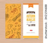 flyer templates with organic... | Shutterstock .eps vector #342154688