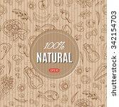 organic food vector hand... | Shutterstock .eps vector #342154703