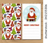merry christmas card. cartoon... | Shutterstock .eps vector #342155306