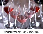 Wineglasses With White  Red And ...