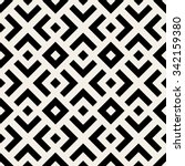 vector seamless black and white ... | Shutterstock .eps vector #342159380