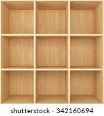 blank wooden bookshelf   Shutterstock . vector #342160694