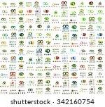 mega set of infinity and loop... | Shutterstock . vector #342160754