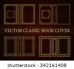 vector classical book cover.... | Shutterstock .eps vector #342161408