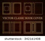 vector classical book cover....   Shutterstock .eps vector #342161408