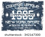 college league nyc vector print ... | Shutterstock .eps vector #342167300