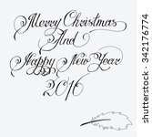 merry christmas and happy new... | Shutterstock .eps vector #342176774