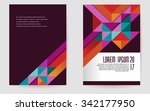 colorful brochure template... | Shutterstock .eps vector #342177950