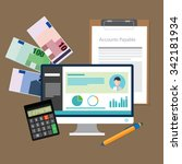 account payable accounting... | Shutterstock .eps vector #342181934