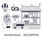 purchase online   internet... | Shutterstock .eps vector #342184556