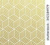 geometric gold glittering... | Shutterstock .eps vector #342184979