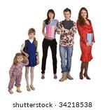 concept. generation student ... | Shutterstock . vector #34218538