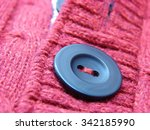 beautiful red winter sweater... | Shutterstock . vector #342185990