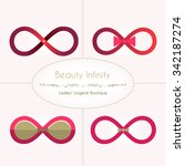 abstract infinity sign in the... | Shutterstock .eps vector #342187274