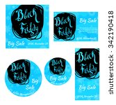 flyers collection for black... | Shutterstock .eps vector #342190418