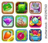set of app store game icons