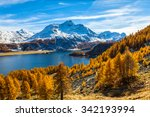 Stunning View Of Sils Lake And...