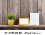 Blank Photo Frames And Plant O...