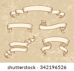set of vintage ribbon banners... | Shutterstock .eps vector #342196526
