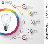 light bulb with circle elements ... | Shutterstock .eps vector #342203198