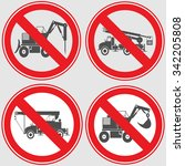 road signs banning heavy... | Shutterstock .eps vector #342205808