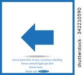 vector arrow icon | Shutterstock .eps vector #342210590