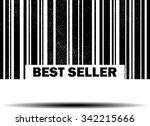 best seller   black barcode... | Shutterstock . vector #342215666