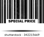 special price   black barcode... | Shutterstock . vector #342215669