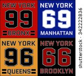 new york districts basketball... | Shutterstock .eps vector #342222836