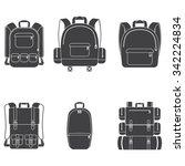 backpack icon set   Shutterstock .eps vector #342224834